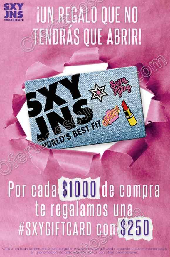 SXY Jeans: $250 de bonificación por cada $1,000 de compra en toda la tienda