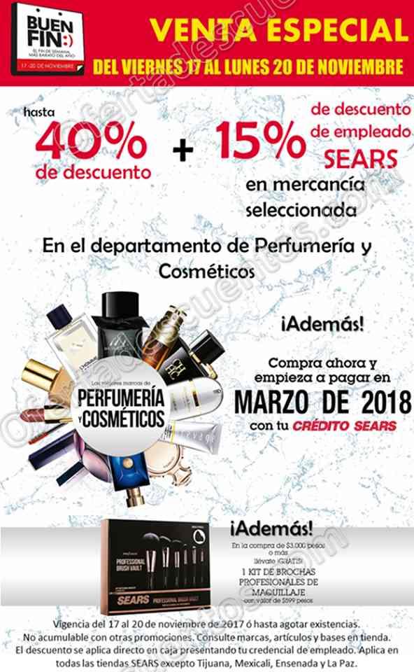 Venta Especial Sears Buen Fin 2017 Hasta 40% de descuento en Perfumería y Cosméticos