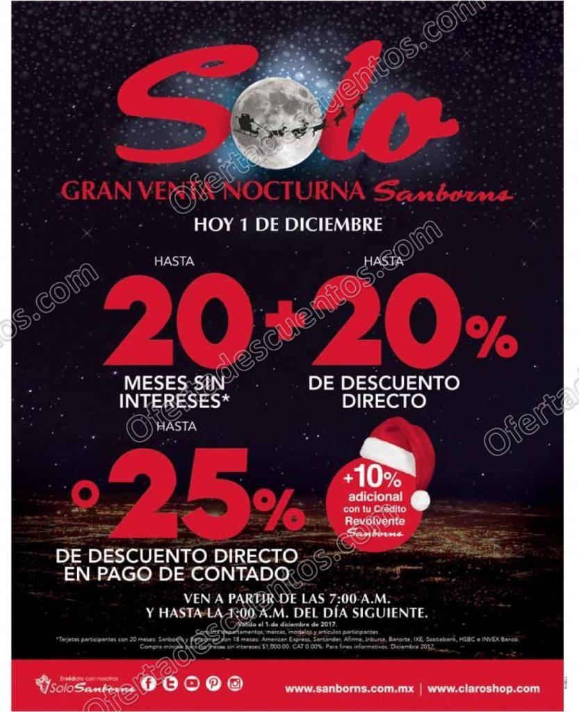 Venta Nocturna Sanborns 1 de Diciembre 2017