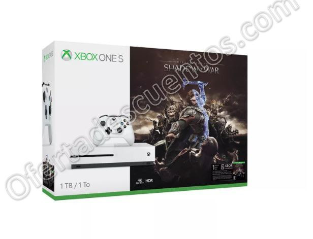 Cyber Monday 2017 Elektra: Xbox One S 1TB Shadow Of War $4,949 con Visa