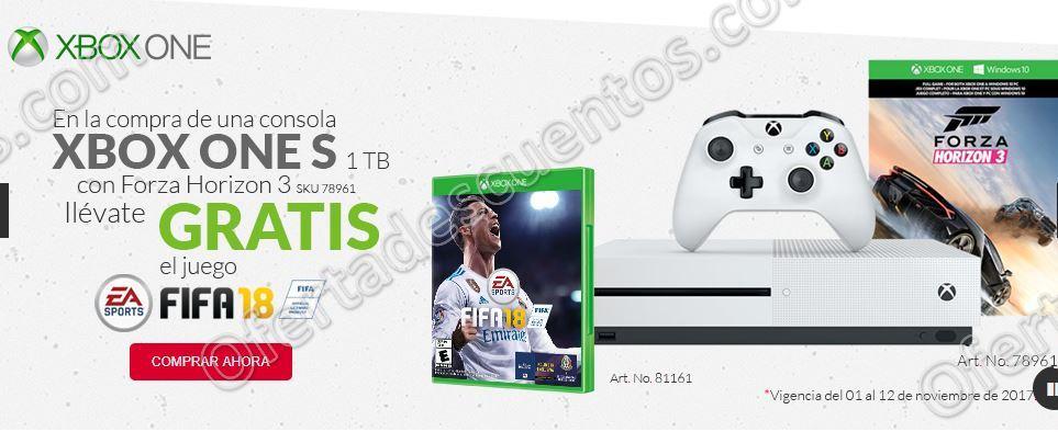Office Depot: Xbox One S 1TB Forza Horizon 3 más Fifa 18 Gratis