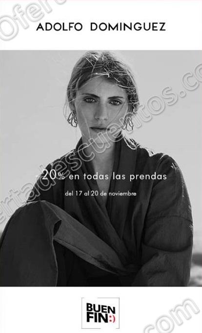 El Buen Fin 2017 Adolfo Dominguez: 20% de Descuento en Todas las Prendas