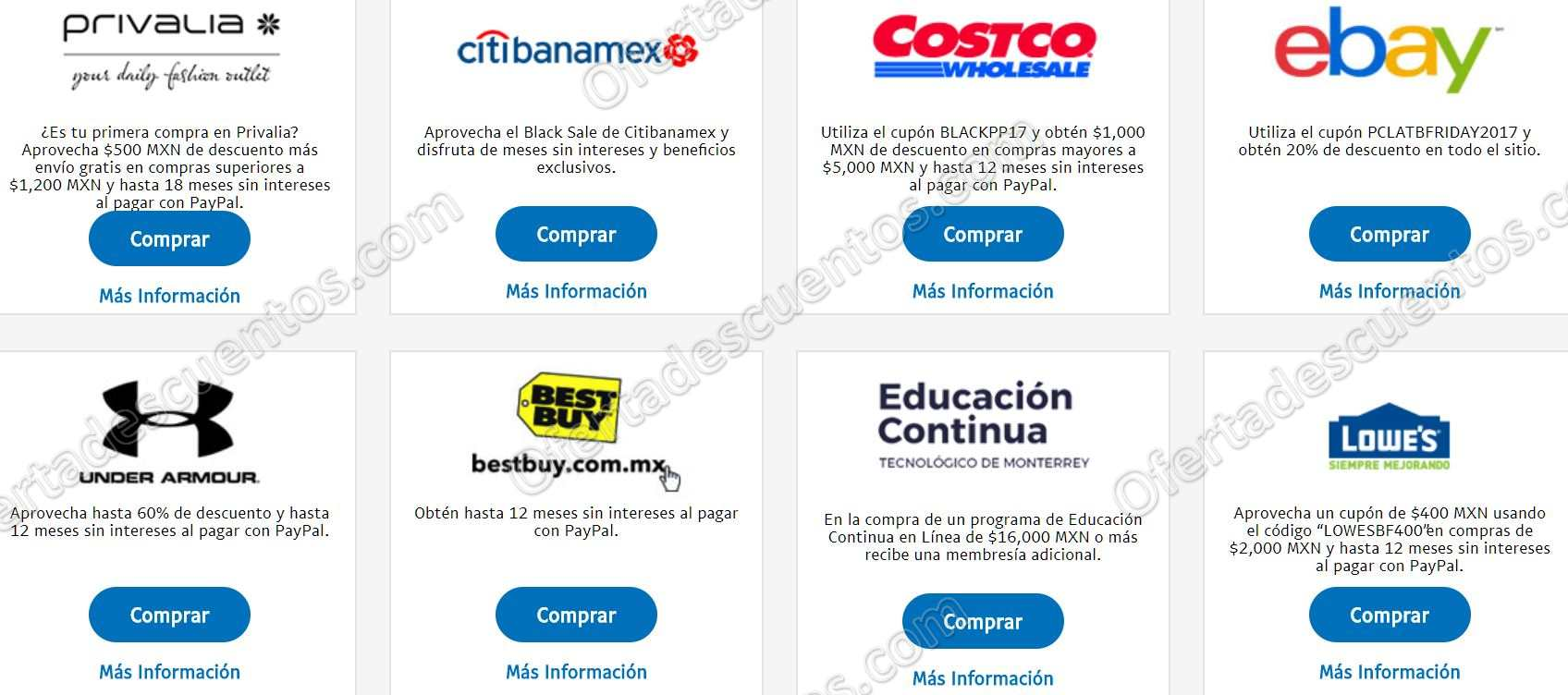 Cupones PayPal Black Friday 2017