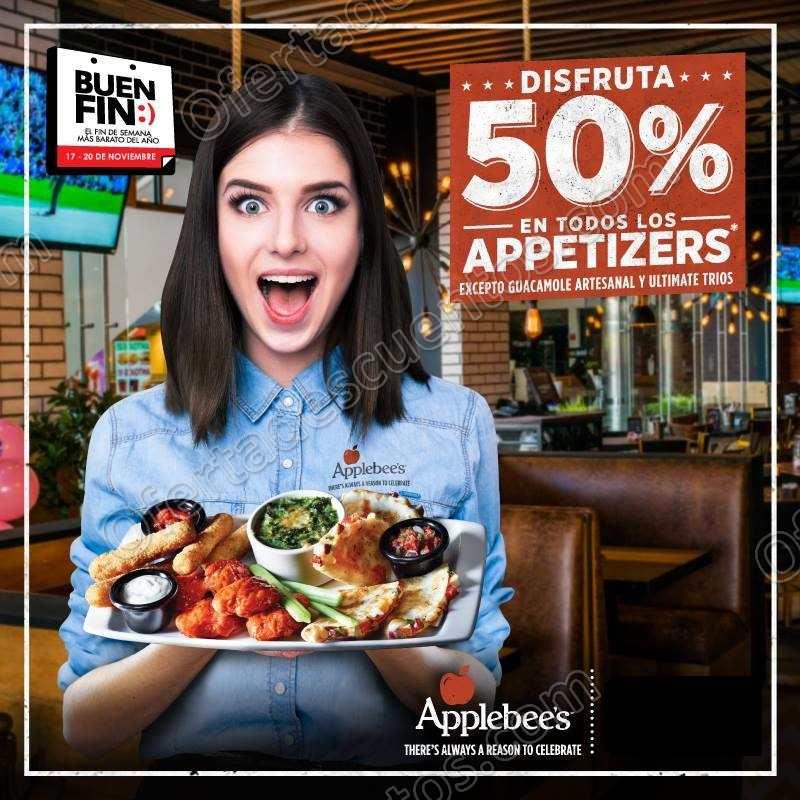 El Buen Fin 2017 Applebee's: 50% de Descuento en Appetizers