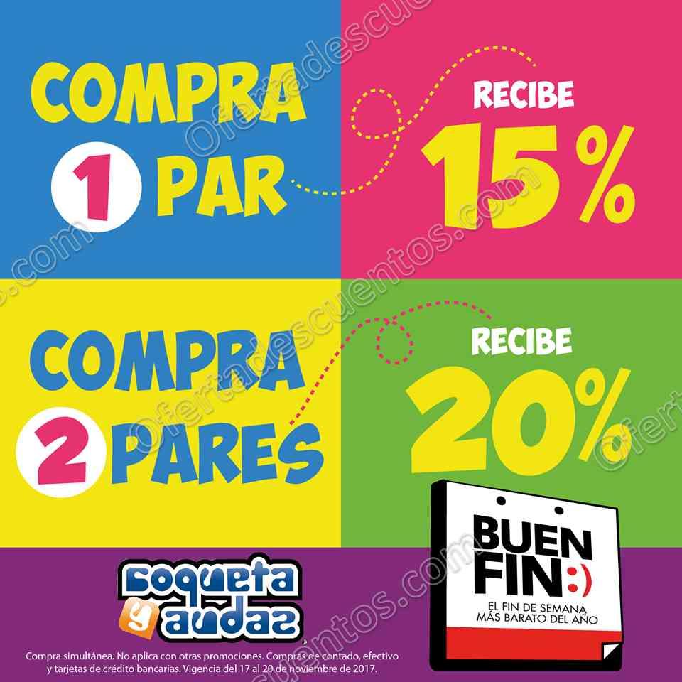 El Buen Fin 2017 Coqueta y Audaz: 20% de Descuento al Comprar 2 Pares