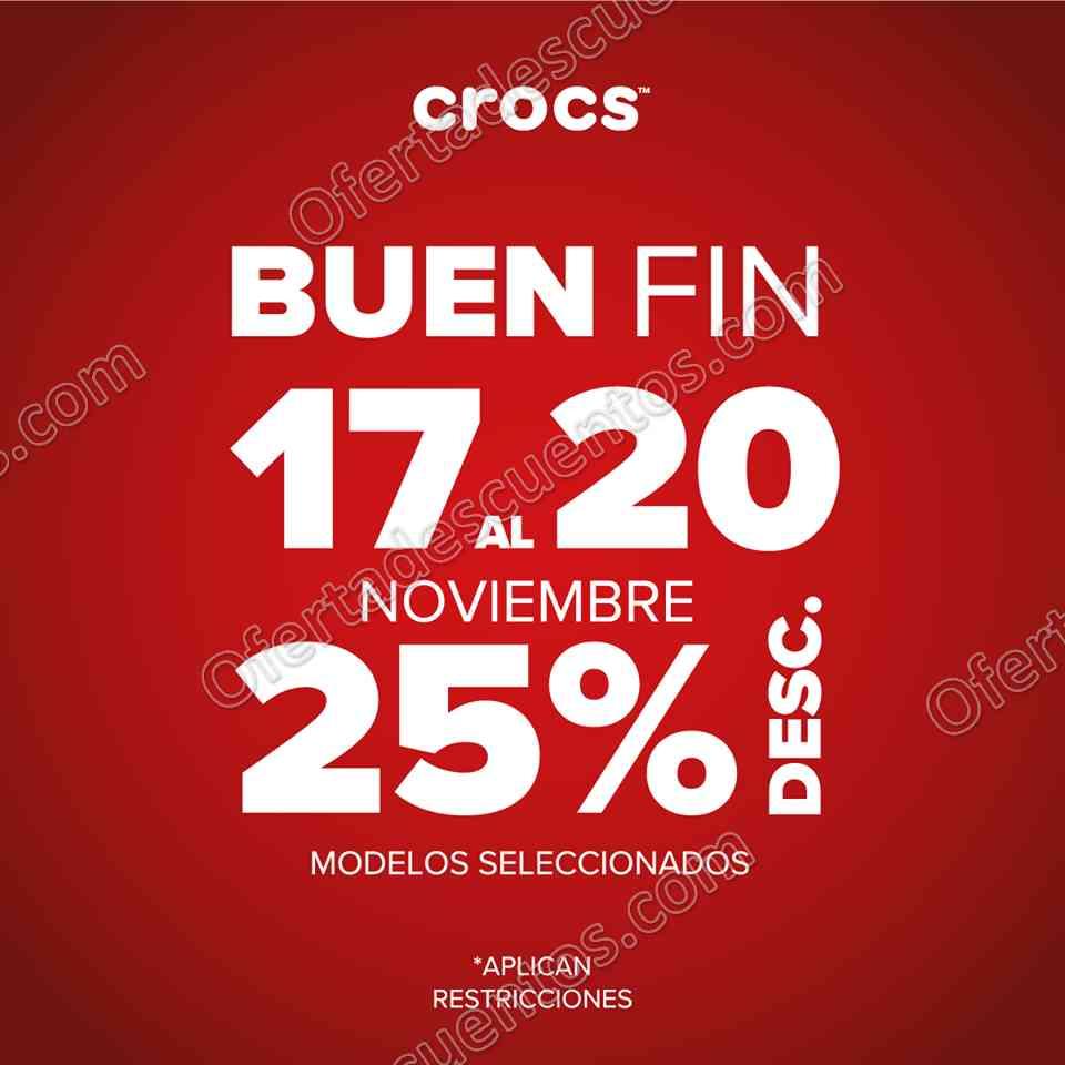 El Buen Fin 2017 Crocs: 25% de Descuento en Artículos Seleccionados