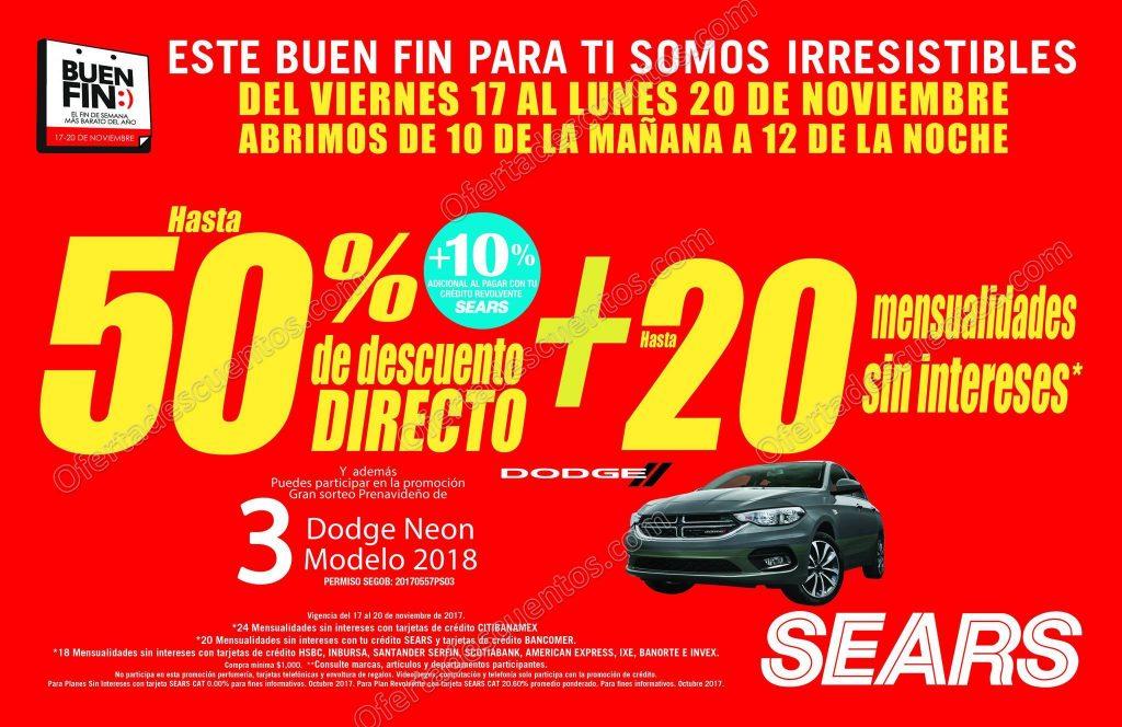 El Buen Fin 2017 Sears: Hasta 50% de Descuento + 20 Meses Sin Intereses