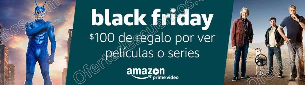 Black Friday Amazon 2017: $100 de regalo al ver series o películas en Prime Video