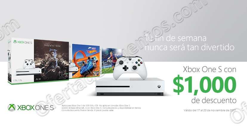 El Buen Fin 2017 Xbox: $1,000 de Descuento