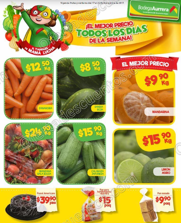 Frutas y Verduras Bodega Aurrerá Tianguis de Mamá Lucha 17 al 23 de Noviembre 2017