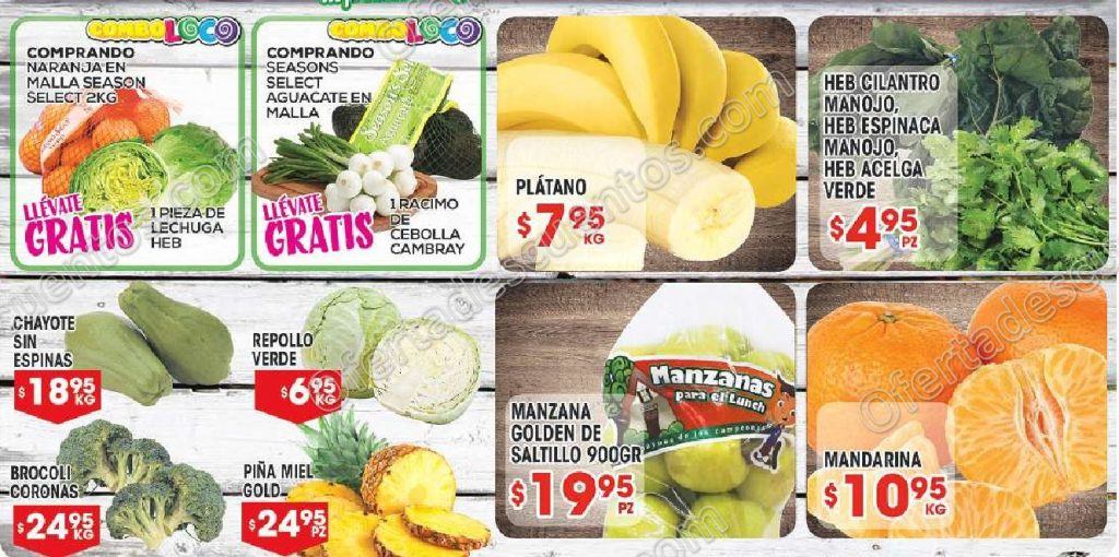HEB: Frutas y Verduras del 28 de Noviembre al 4 de Diciembre 2017