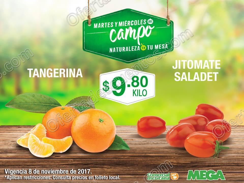 Frutas y Verduras Comercial Mexicana y Mega Soriana del 7 y 8 de Noviembre 2017
