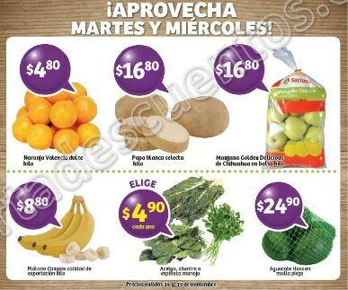 Frutas y Verduras Soriana 14 y 15 de Noviembre 2017