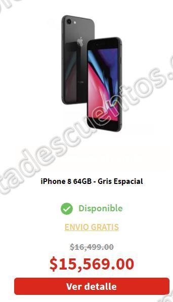 Ofertas El Buen Fin 2017 Elektra: iPhone 8 64 GB $12,844