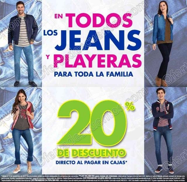 Suburbia: 20% de Descuento en Todos los Jeans y Playeras Para Toda la Familia