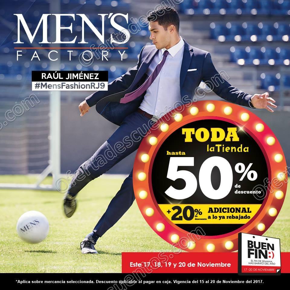 El Buen Fin 2017 Men's Factory: Hasta 50% de Descuento