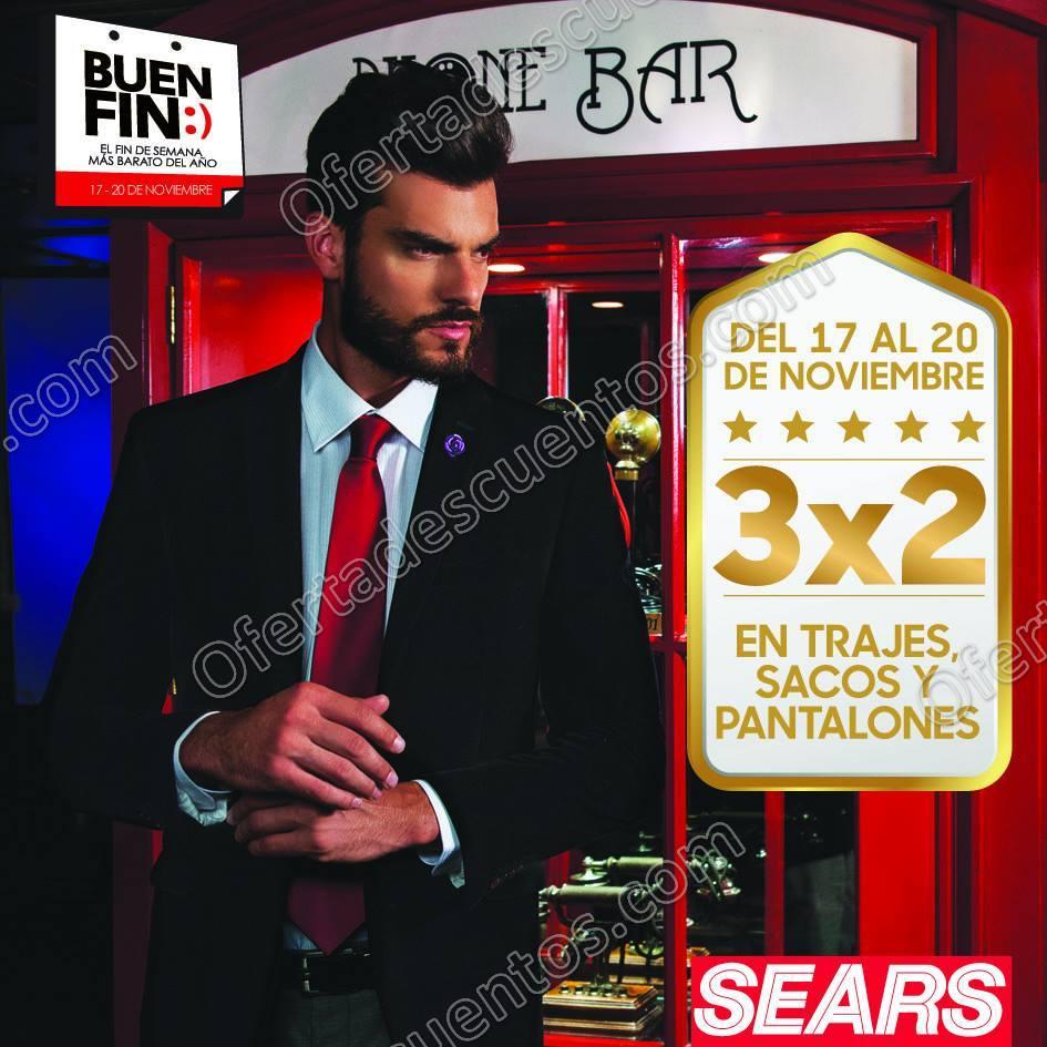 Ofertas del Buen Fin 2017 Sears: 3×2 en Ropa para Caballero y Zapatos para toda la familia