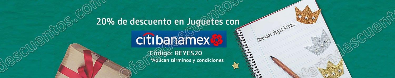 Amazon: 20% de descuento en Juguetes con Citibanamex al 29 de Diciembre 2017