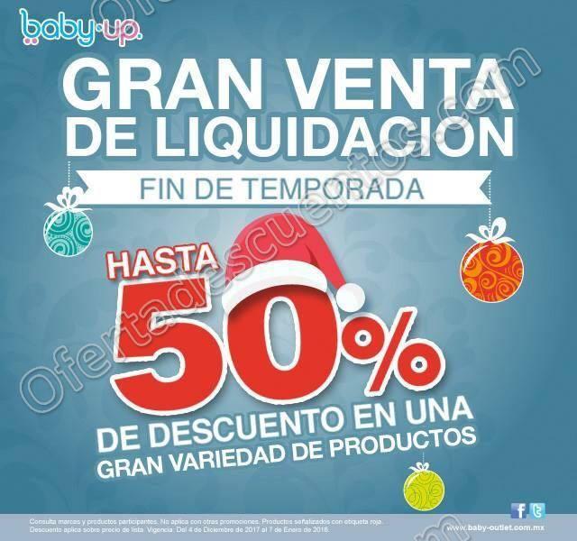 Baby Up: Gran Venta de Liquidación hasta 50% de descuento hasta el 7 de Enero 2018