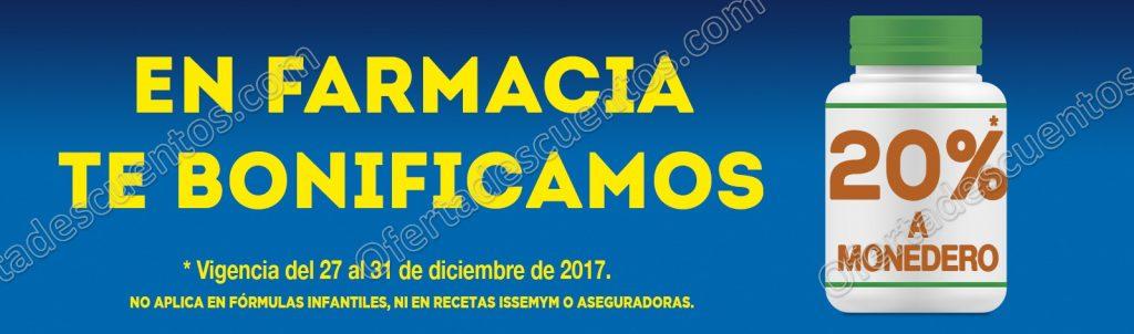 Comercial Mexicana: 20% de Bonificación en Monedero en Farmacia del 27 al 31 de Diciembre 2017