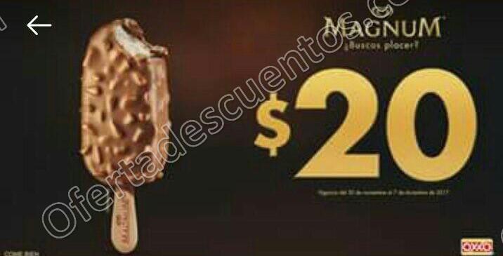 Cupón Oxxo: Paleta Magnum a $20 al 7 de Diciembre 2017