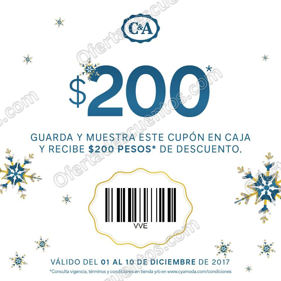 C&A: Cupón $200 de descuento en compras de $1,200 o más