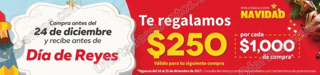 Elektra: Cupón Día de Reyes $250 de descuento por cada $1,000 de compra