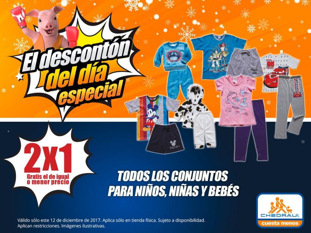 Chedraui: Descontón del Día 2×1 en todos los conjuntos para niños 12 de Diciembre 2017