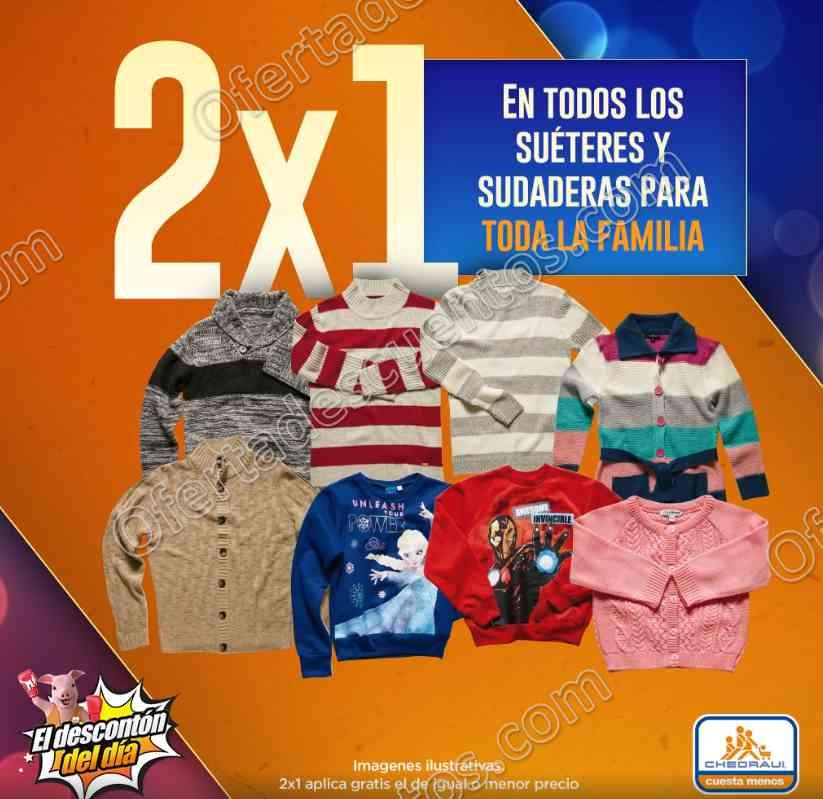 Chedraui Descontón del Día: 2×1 en todos los Suéteres, Sudaderas y más 14 de Diciembre 2017