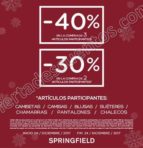 Springfield: Descuentos escalonados hasta 40% de descuento del 4 al 24 de Diciembre