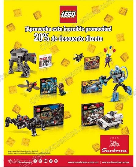 Sanborns: 20% de descuento en toda la marca Lego del 8 al 10 de Diciembre
