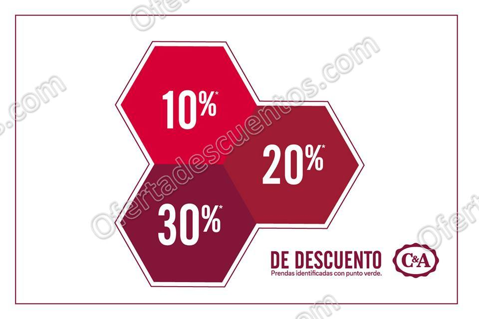 C&A: Hasta 30% de descuento en mercancía con etiqueta verde