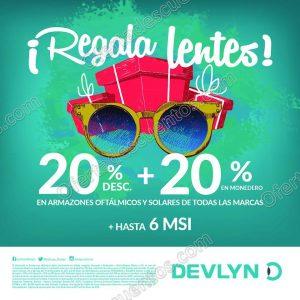 Devlyn: 20% de descuento más 20% en monedero en lentes Oftálmicos y Solares