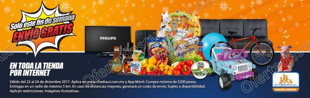 Chedraui: Envío Gratis en Compras por Internet y desde la App del 22 al 24 de Diciembre