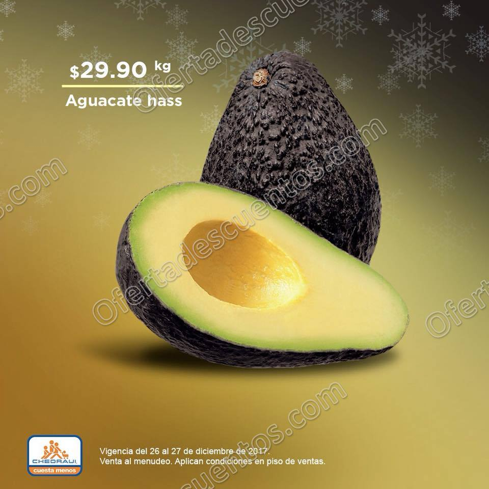 Frutas y Verduras Chedraui 26 y 27 de Diciembre 2017
