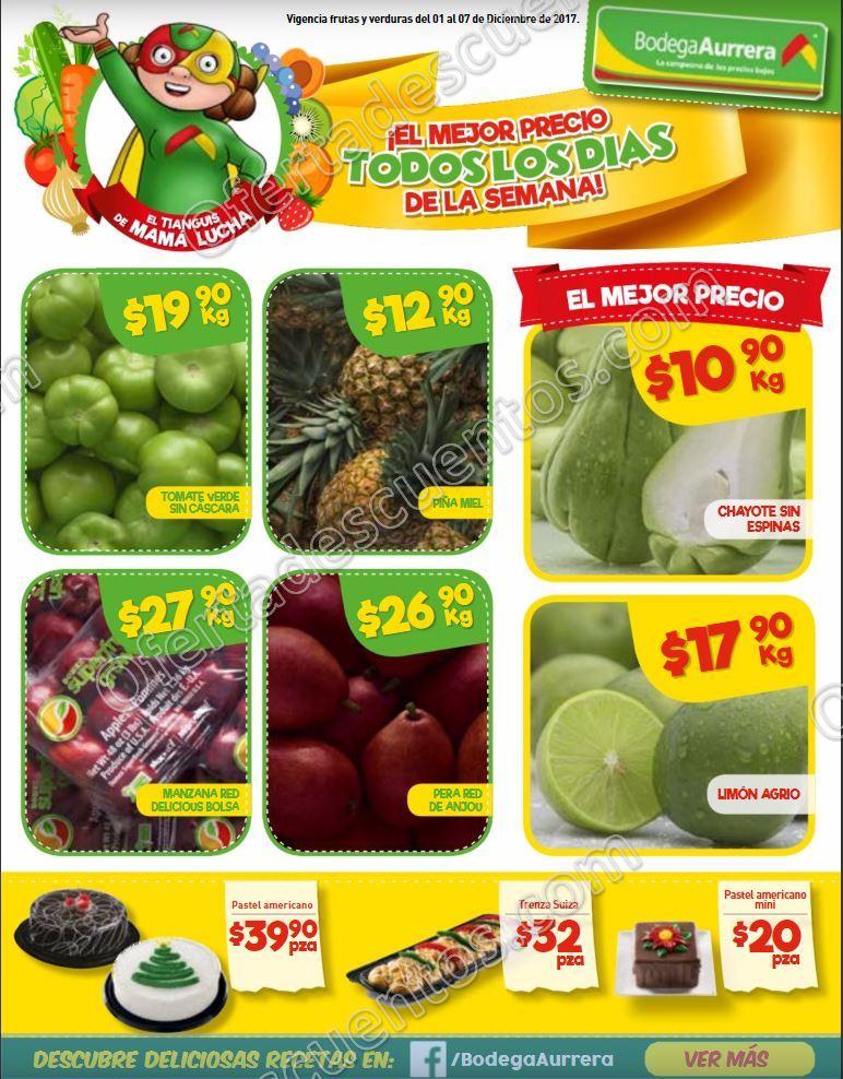 Bodega Aurerrá: Frutas y Verduras Tiánguis de Mamá Lucha del 1 al 7 de Diciembre