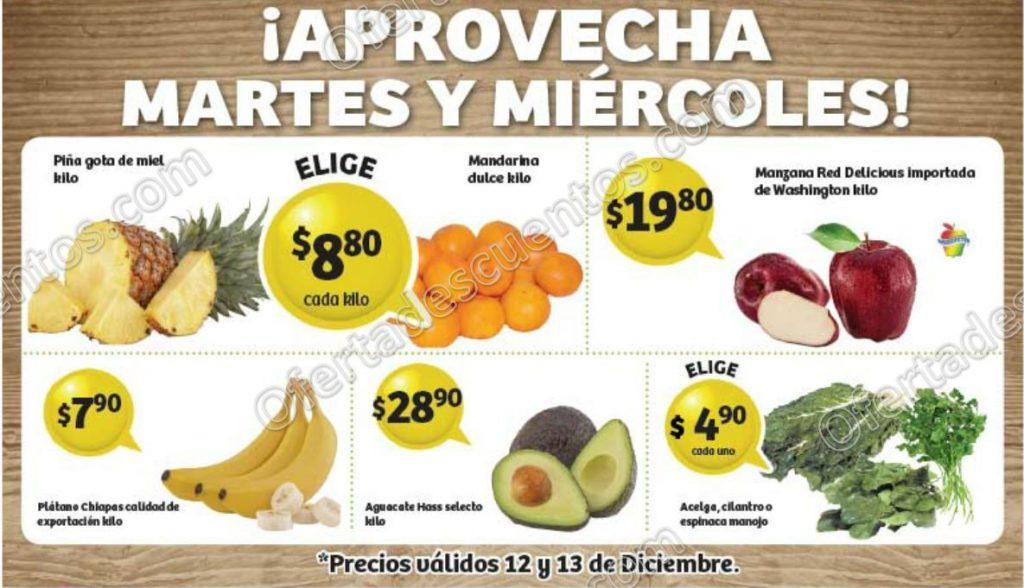 Frutas y Verduras Soriana 12 y 13 de Diciembre 2017