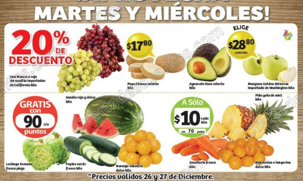 Frutas y Verduras Soriana 26 y 27 de Diciembre 2017