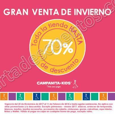 Campanita&Kids: Rebajas de Invierno Hasta 70% de descuento en toda la tienda