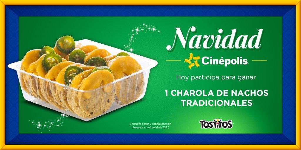 Navidad Cinépolis 2017: Gratis Nachos tradicionales 1 de Diciembre 2017