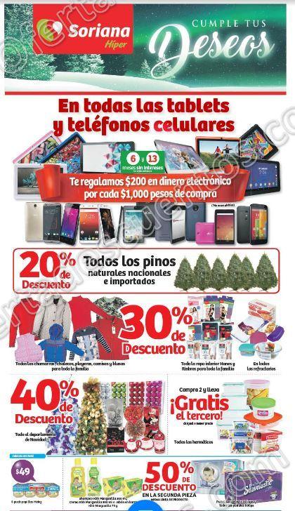 Soriana: Promociones de Fin de Semana del 1 al 4 de Diciembre 2017