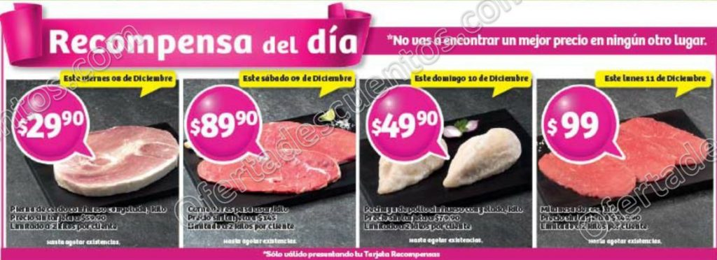 Soriana: Promociones Tarjeta Recompensas del Día del 8 al 11 de Diciembre