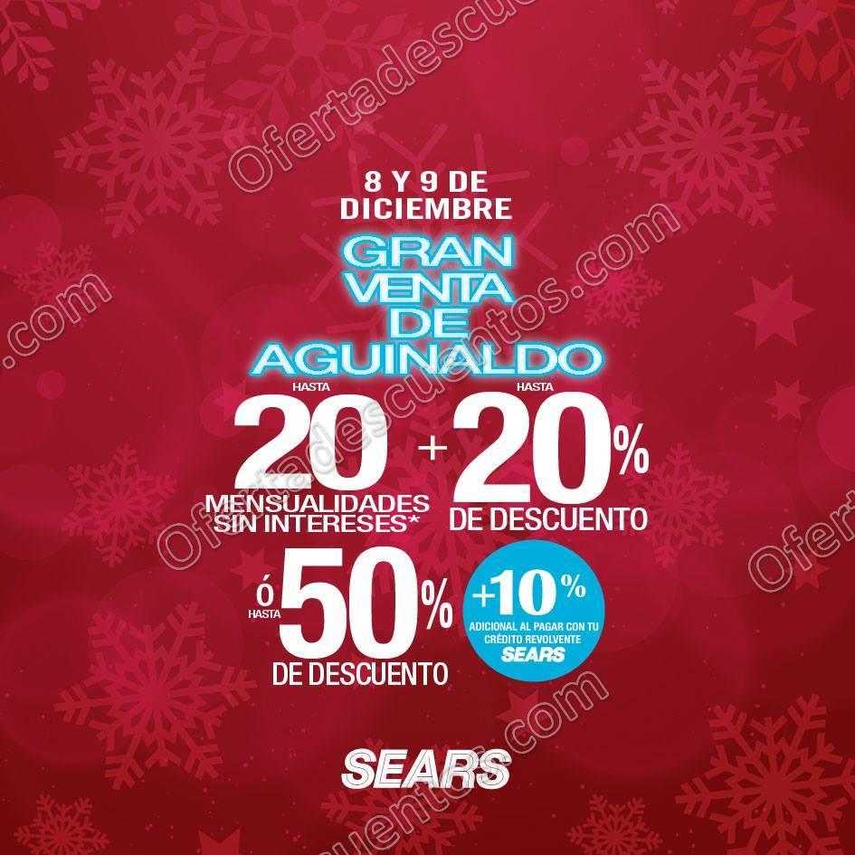 Gran Venta de Aguinaldo Sears 8 y 9 de Diciembre 2017