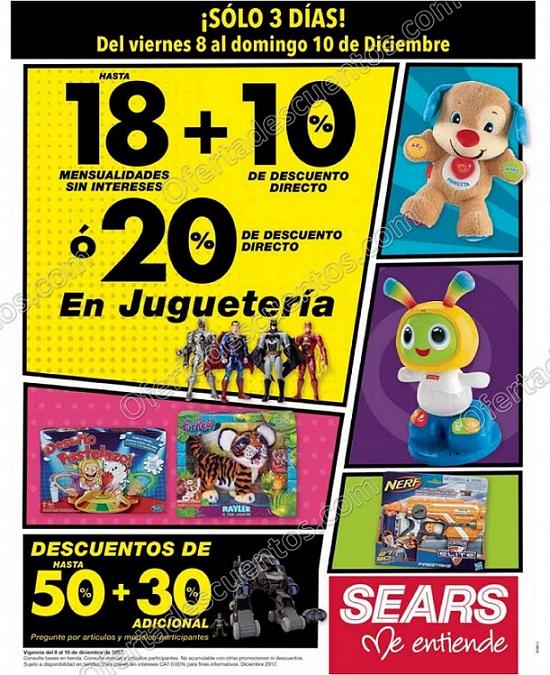 Sears: 20% de descuento directo en Juguetería del 8 al 10 de Diciembre