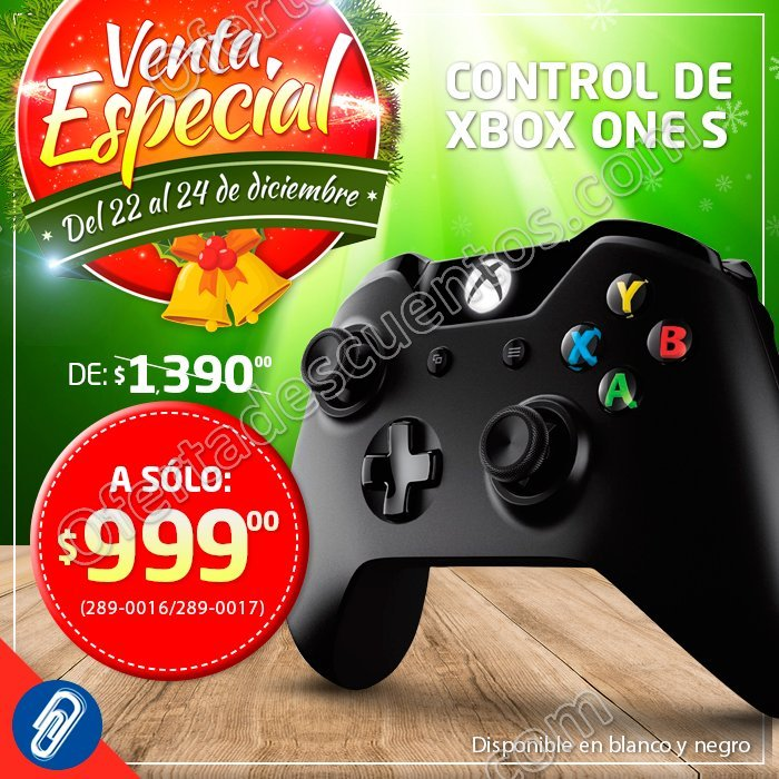 Ofix. Venta Especial del 22 al 24 de Diciembre, Control para Xbox One S a $999