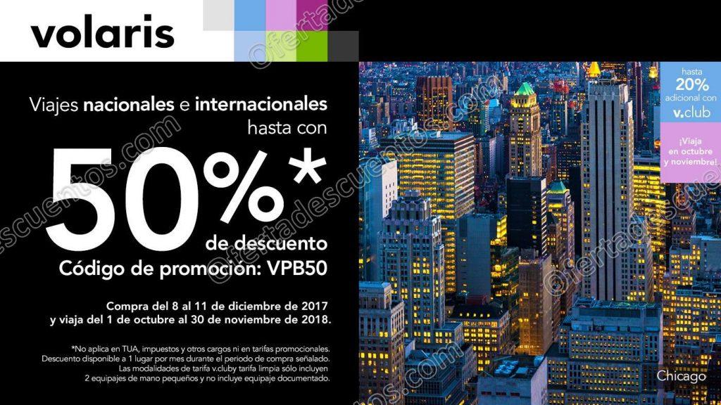Volaris: Hasta 50% de descuento en vuelos Nacionales e Internacionales del 8 al 11 de Diciembre