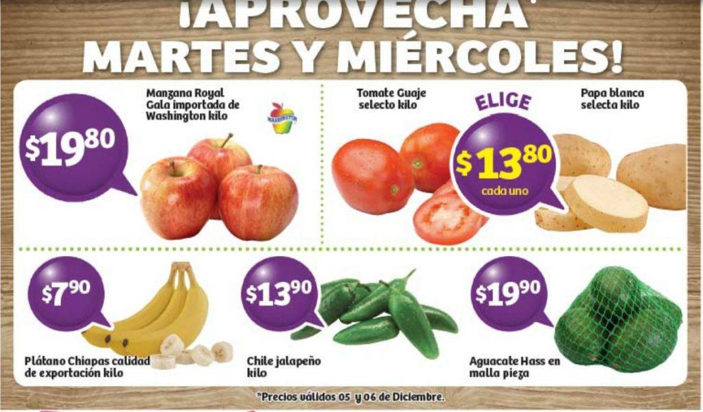 Frutas y Verduras Soriana 5 y 6 de Diciembre de 2017