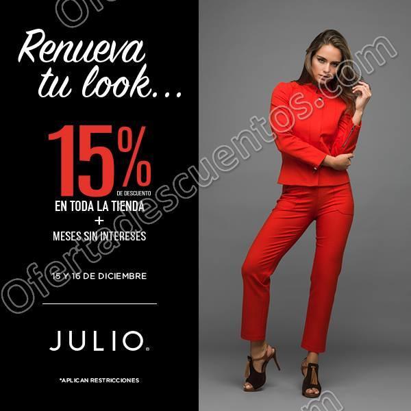 Julio: 15% de Descuento en Toda la Tienda