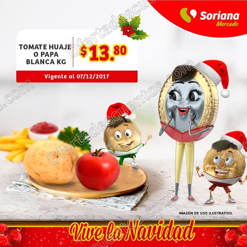 Frutas y Verduras Soriana Mercado del 5 al 7 de Diciembre 2017