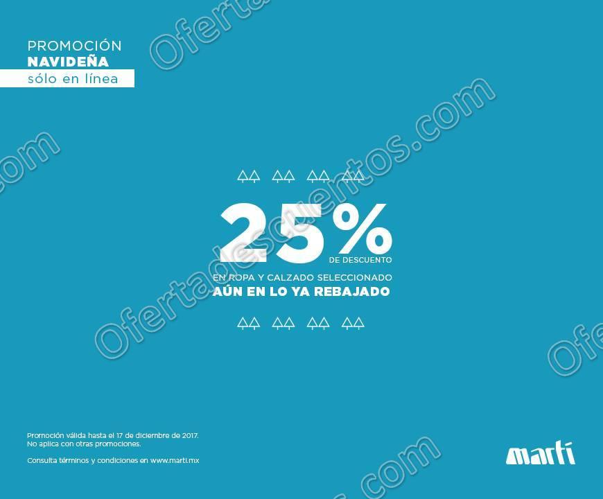 Martí: Venta Especial Navideña 25% de Descuento